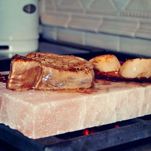 HIMALAYAN SALT BLOCK COOKING IS COOL!